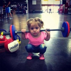 kid girl squat
